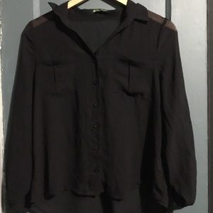 Black collard blouse